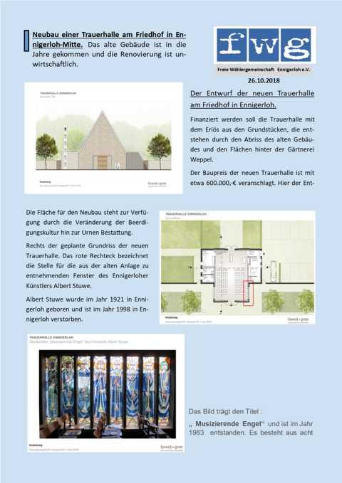 fwg-Stadtrat / Trauerhalle in Ennigerloh