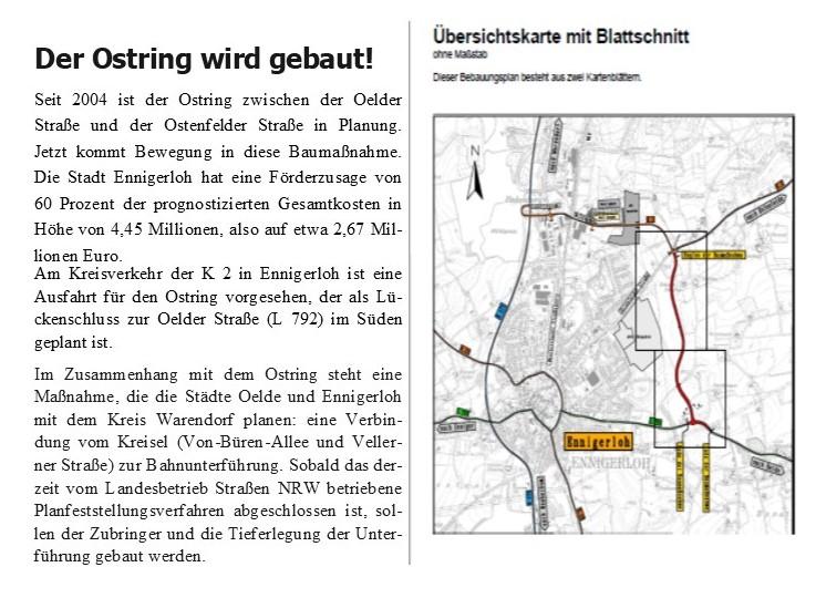 Ostring in Ennigerloh wird gebaut.
