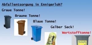 """Abfallentsorgung in Ennigerloh. Was wird aus den """"GELBEN SÄCKEN""""!"""