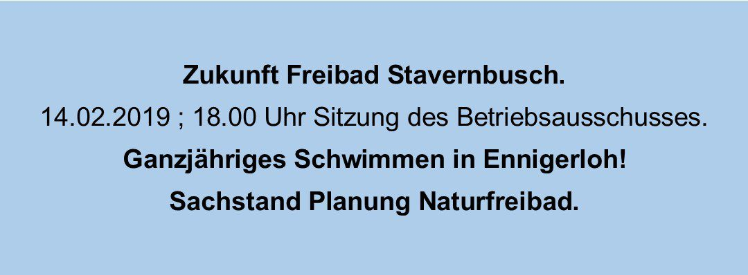 Freibad Ennigerloh – Zukunft Ennigerloh