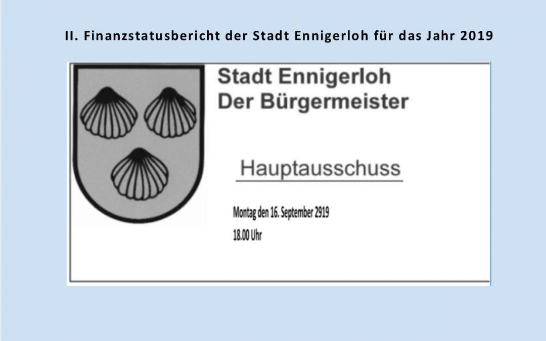 Haupt- und Finanzausschuss Montag 16.09.2019 Ratssaal Ennigerloh
