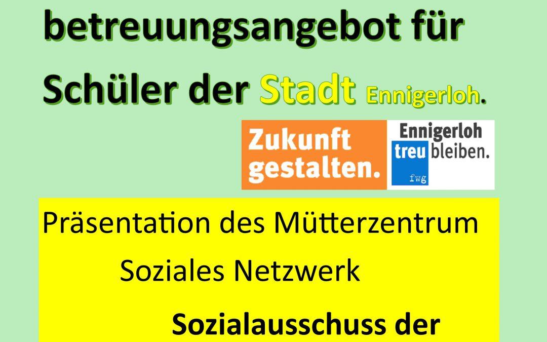 Ferienbetreuung der Schüler in Ennigerloh.  – Sommer 2020 –