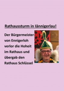 Traditioneller Rathaussturm.