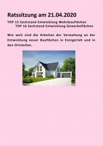 Bauflächenentwicklung in Ennigerloh - Sachstand -