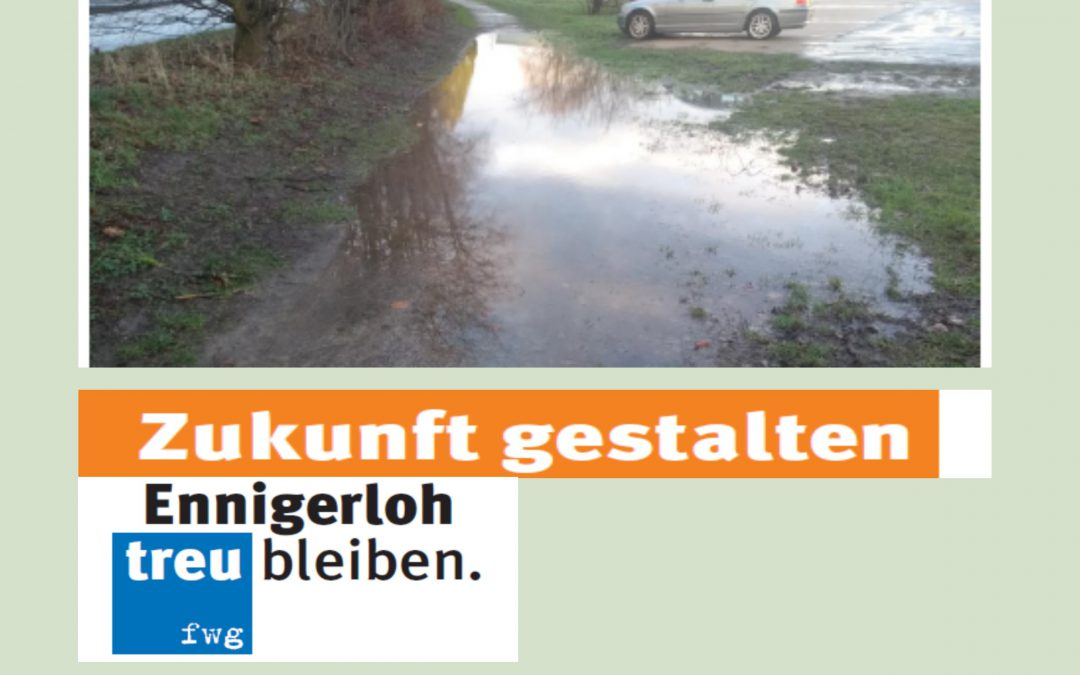 Gehweg in Westkirchen!