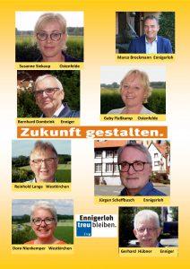 Besonderes Ziel dieser Wahlkreiskandidaten: Jürgen Scheffbusch, Marco Brockmann, Bernhard Dombrink, Gerhard Hübner, Doro Nienkemper, Reinhold Lange, Gaby Flaßkamp, Susanne Siekaup