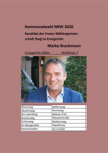 Kommunalwahl NRW 2020 Wahlkreis 7   Marco Brockmann