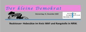 Realsteuern: Grundsteuer A, B und Gewerbesteuer in Ennigerloh.