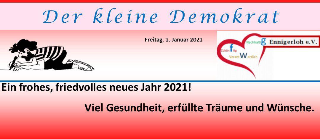 """Ein frohes und gesundes """"Neues Jahr  2021""""."""